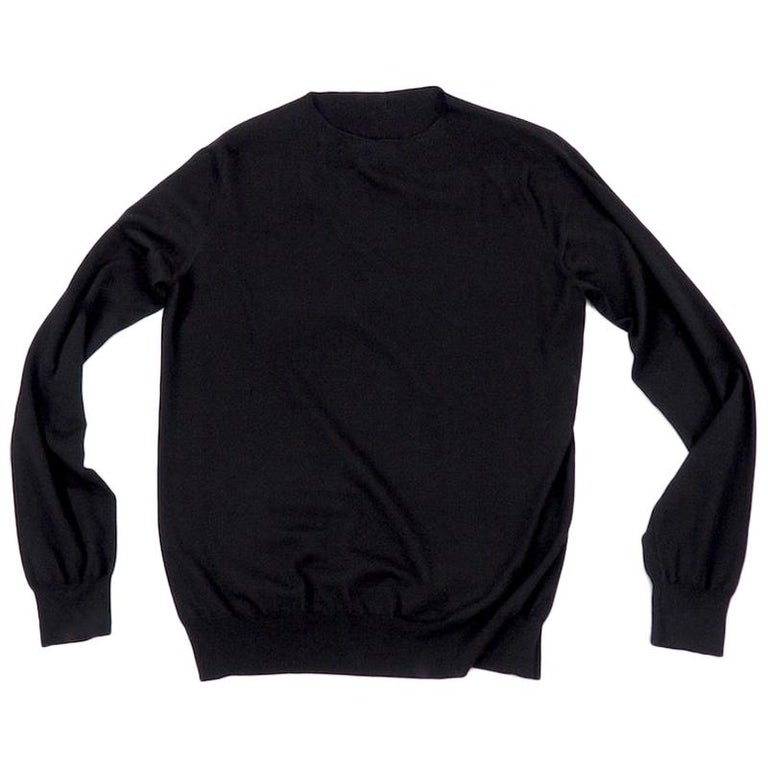 Hermes - Black Fine Wool Sweater For Sale