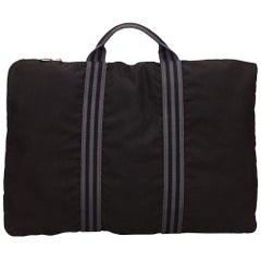 Hermes Black Fourre Tout Canvas Briefcase