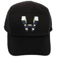 Hermés Black H Odyssey Embroidered Cotton Nevada Cap Size 60