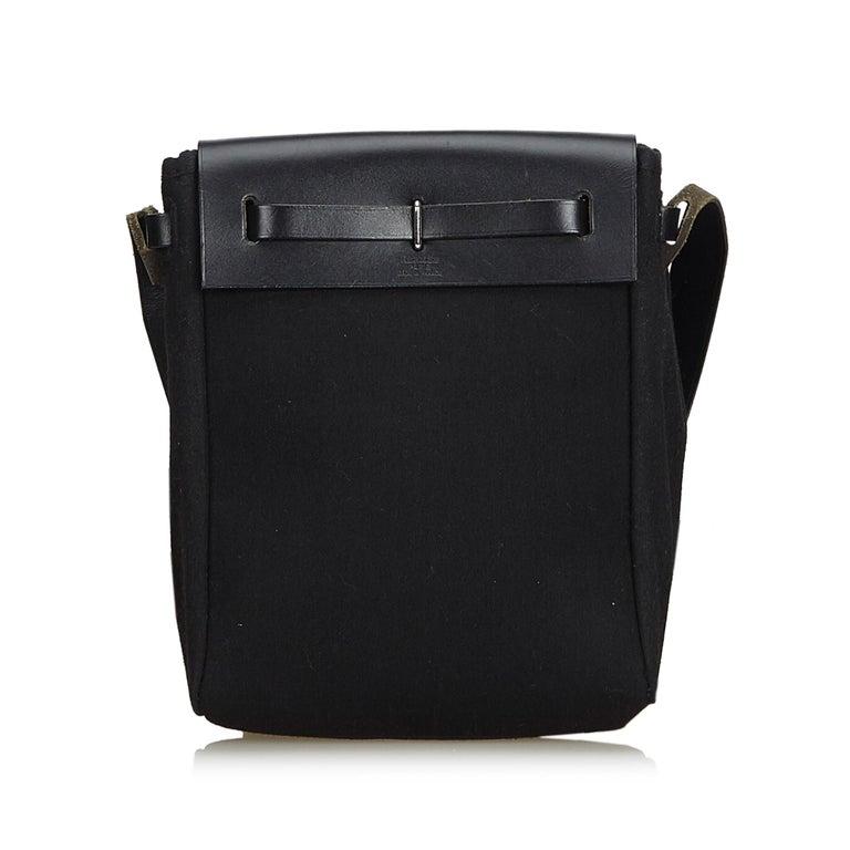 Hermes Black Herbag TPM In Good Condition For Sale In Orlando, FL