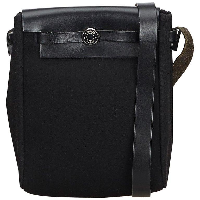 Hermes Black Herbag TPM For Sale