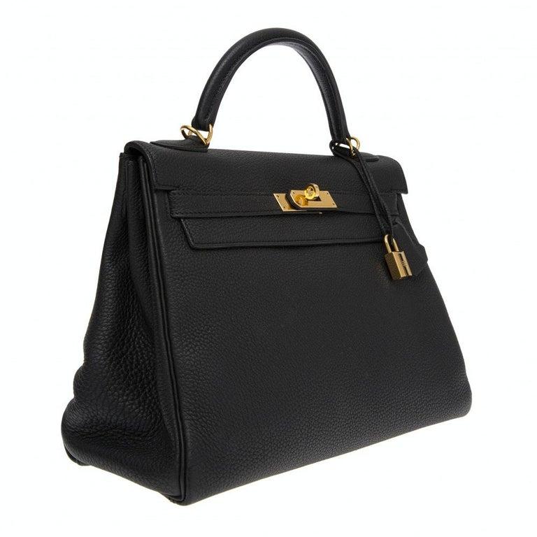 Black Hermès black Kelly 32