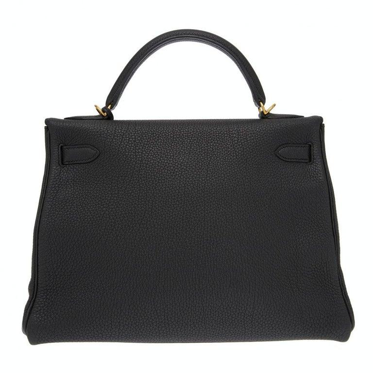 Hermès black Kelly 32  In Excellent Condition In Capri, IT
