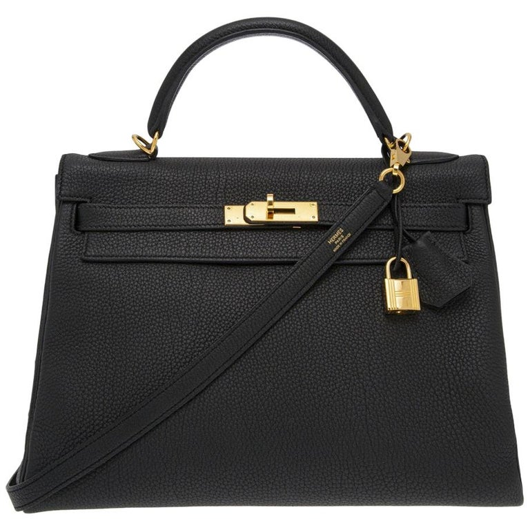 Hermès black Kelly 32