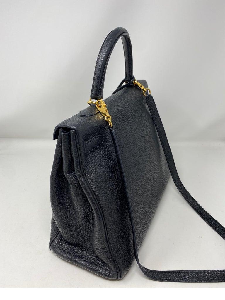 Hermes Black Kelly 35 Togo Bag  For Sale 6