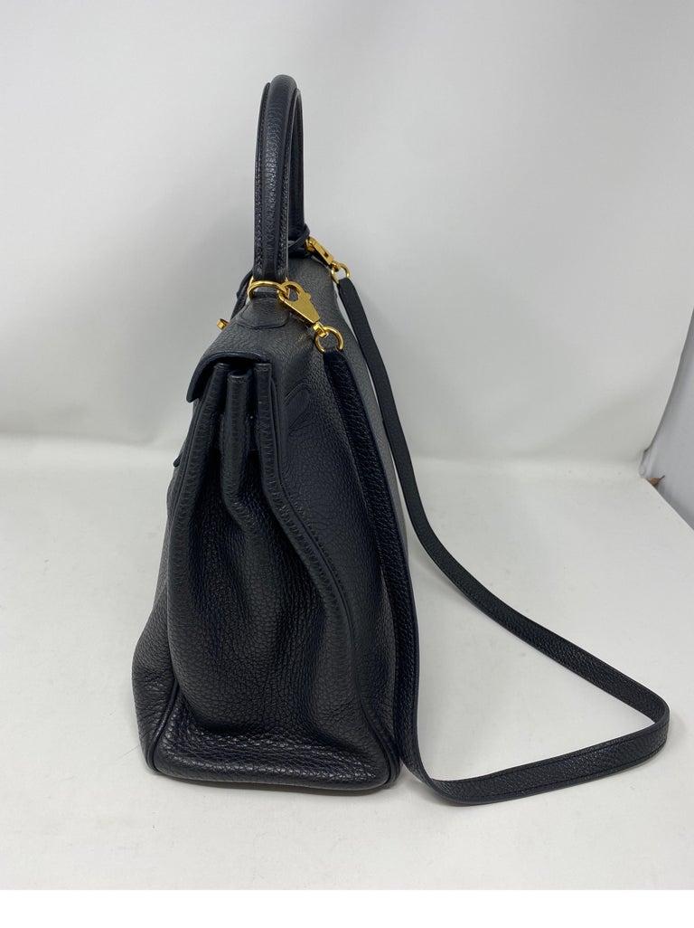 Hermes Black Kelly 35 Togo Bag  For Sale 7