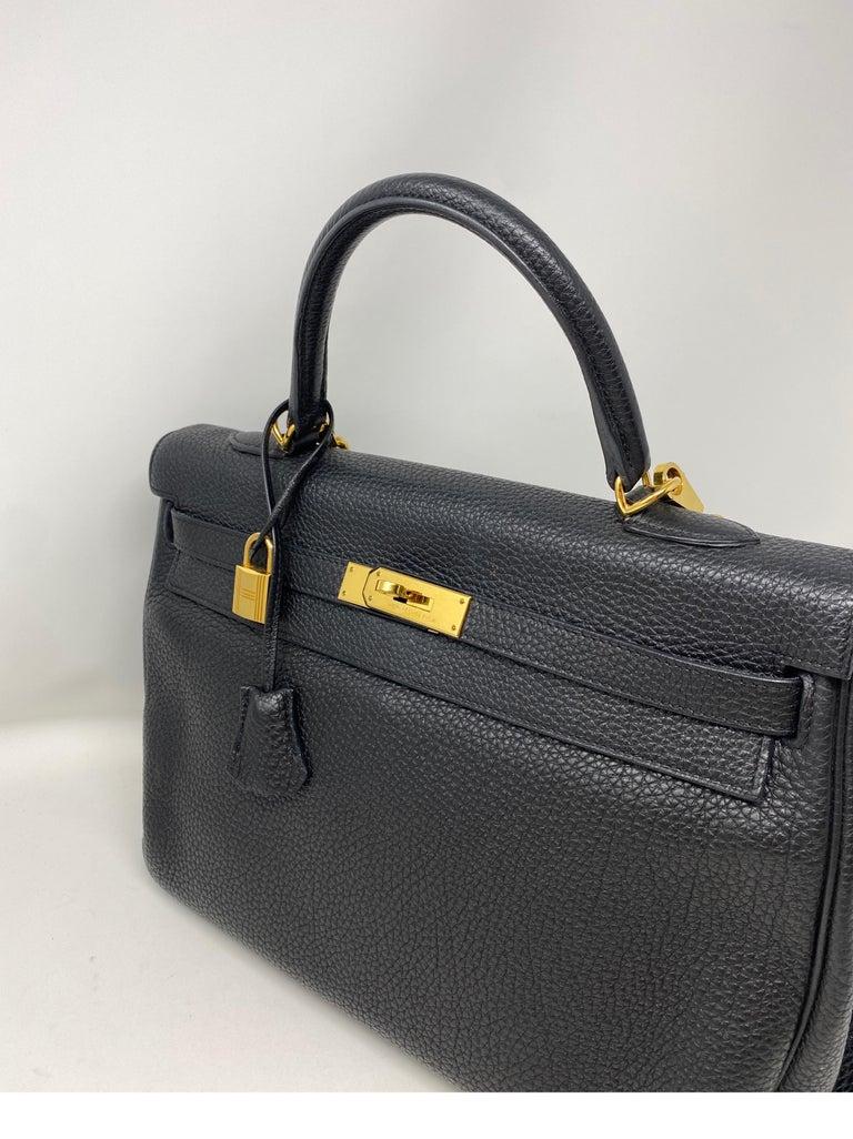Hermes Black Kelly 35 Togo Bag  For Sale 10