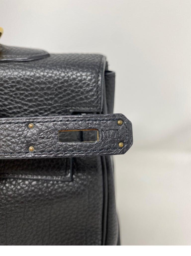 Hermes Black Kelly 35 Togo Bag  For Sale 13