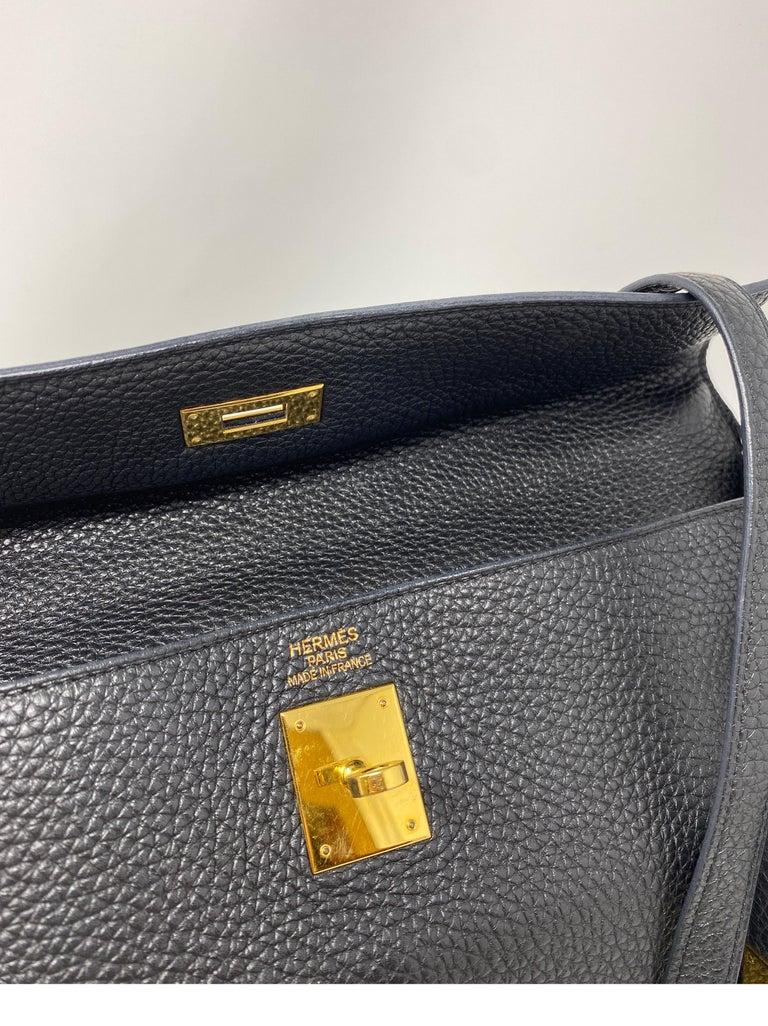 Hermes Black Kelly 35 Togo Bag  For Sale 14