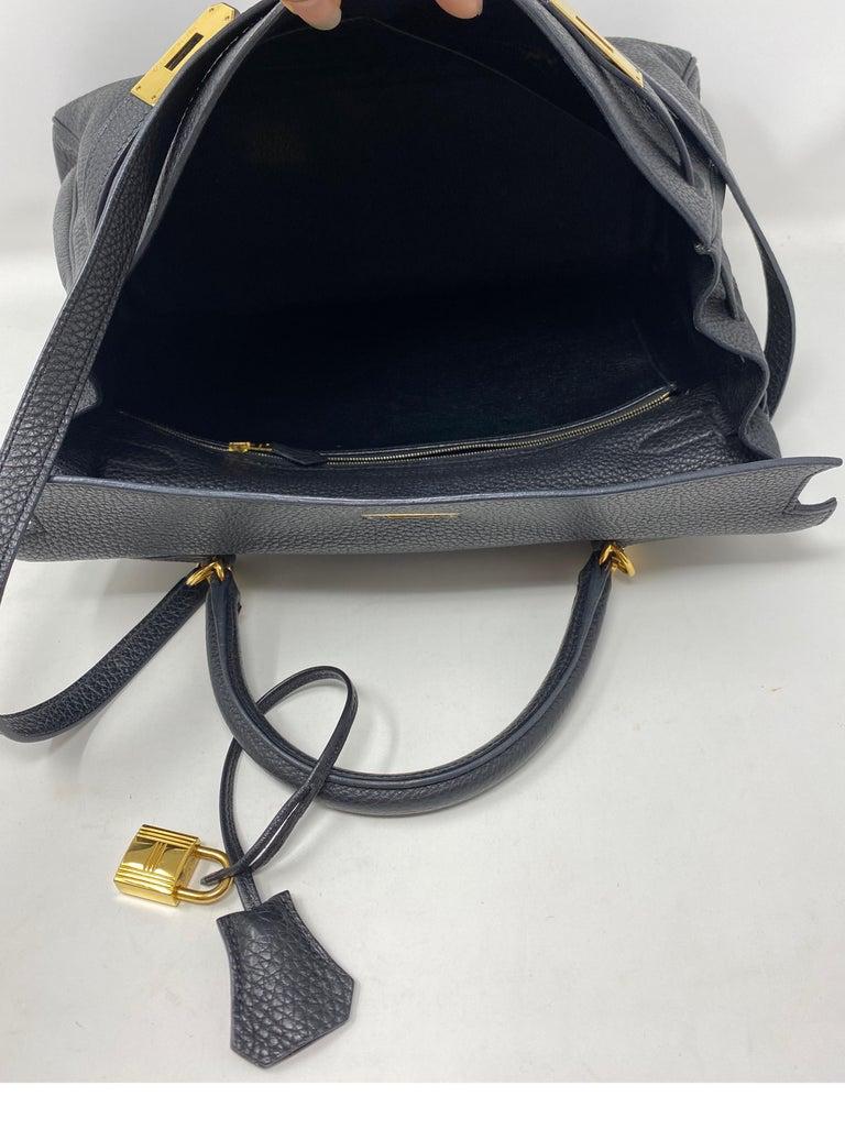 Hermes Black Kelly 35 Togo Bag  For Sale 15