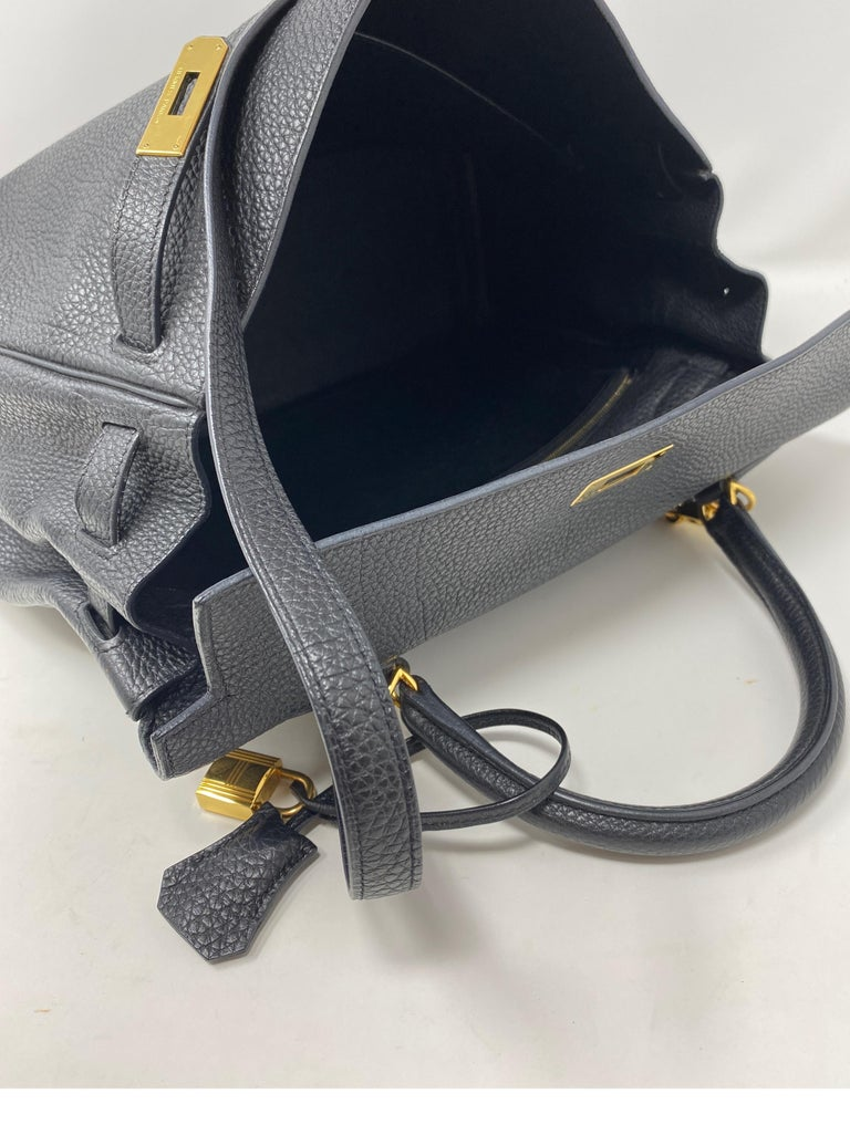Hermes Black Kelly 35 Togo Bag  For Sale 16