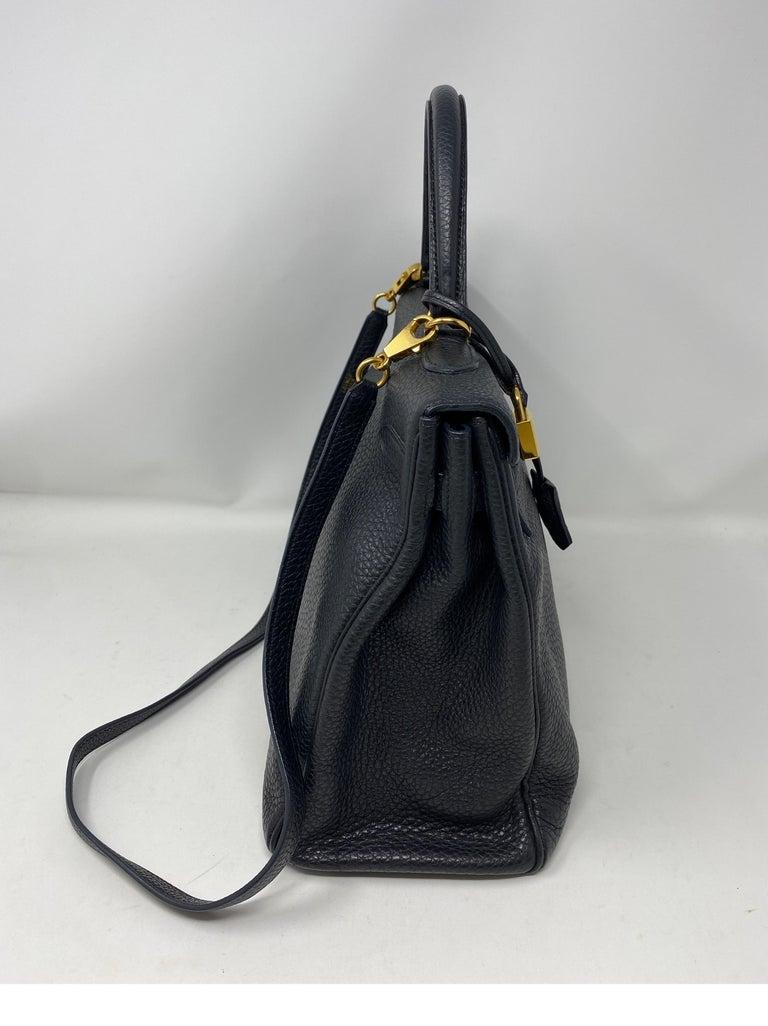 Hermes Black Kelly 35 Togo Bag  For Sale 2