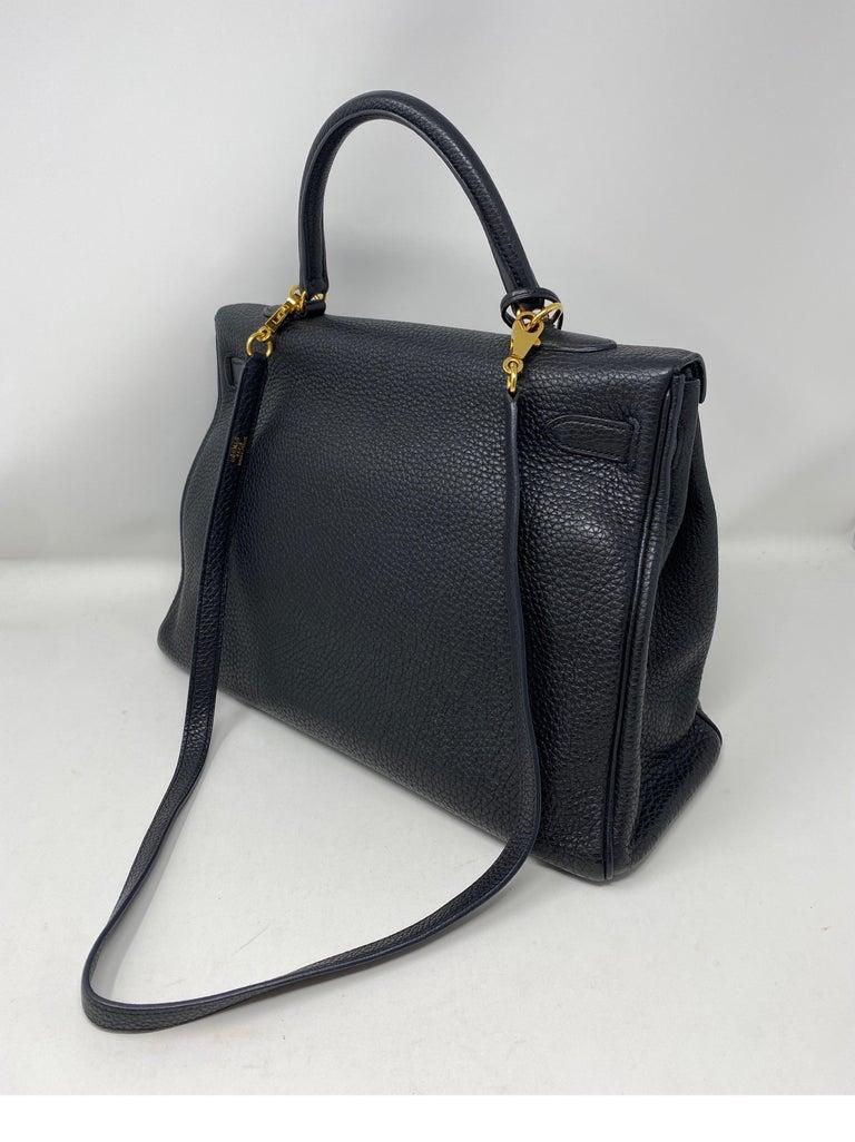 Hermes Black Kelly 35 Togo Bag  For Sale 3