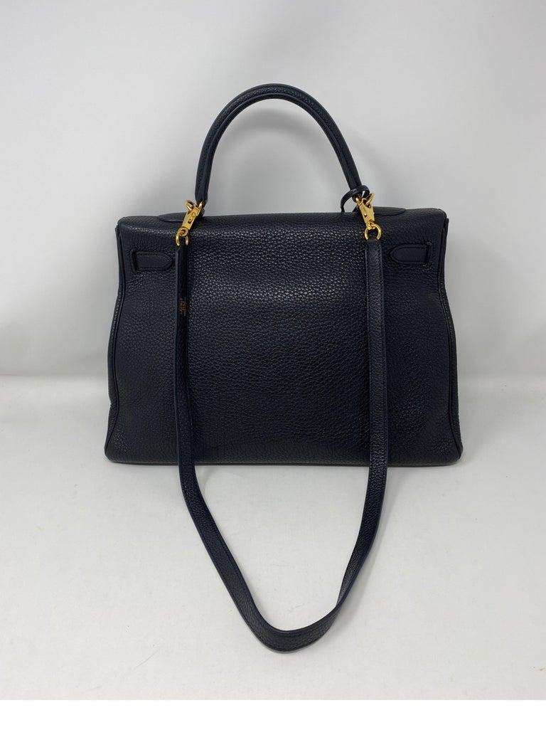 Hermes Black Kelly 35 Togo Bag  For Sale 4