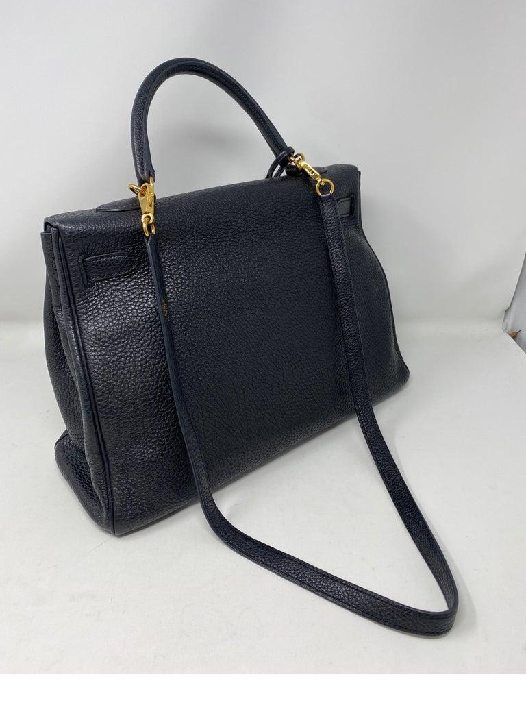 Hermes Black Kelly 35 Togo Bag  For Sale 5