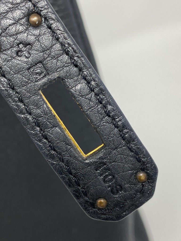 Hermès Black Kelly 35 with Gold Hardware 10