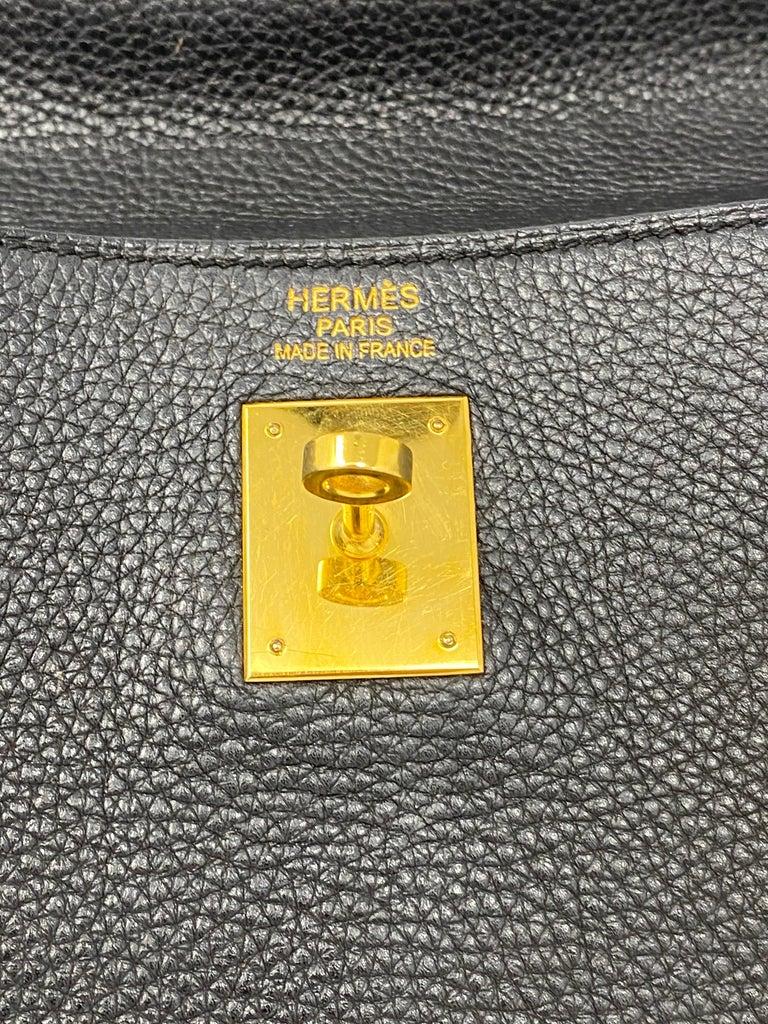 Hermès Black Kelly 35 with Gold Hardware 11