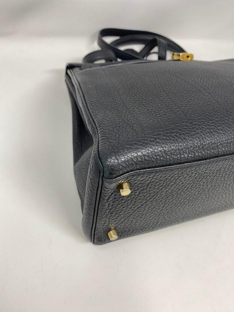 Hermès Black Kelly 35 with Gold Hardware 2