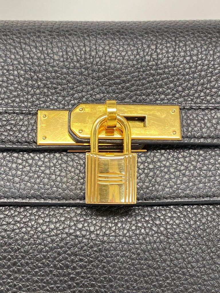 Hermès Black Kelly 35 with Gold Hardware 3