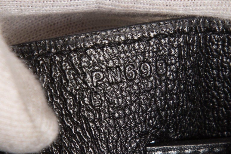 HERMÈS  Black Kelly 35cm Sellier Swift Leather Handle Bag $15,995.95 For Sale 7