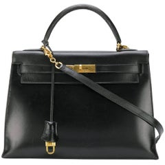 Hermes Black Kelly Bag