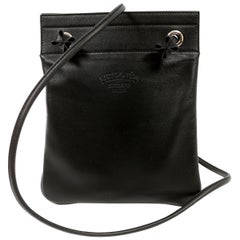 Hermès Black Leather Aline Mini Bag