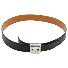 Hermes Black Leather Belt