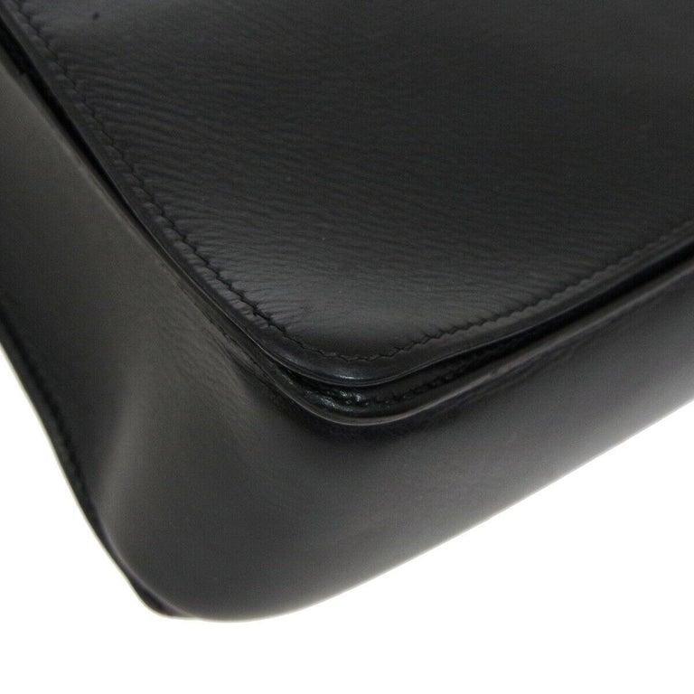 ec6691e0d3 Hermes Black Leather Men's Women's Carryall Travel Shoulder Backpack Bag  For Sale 1