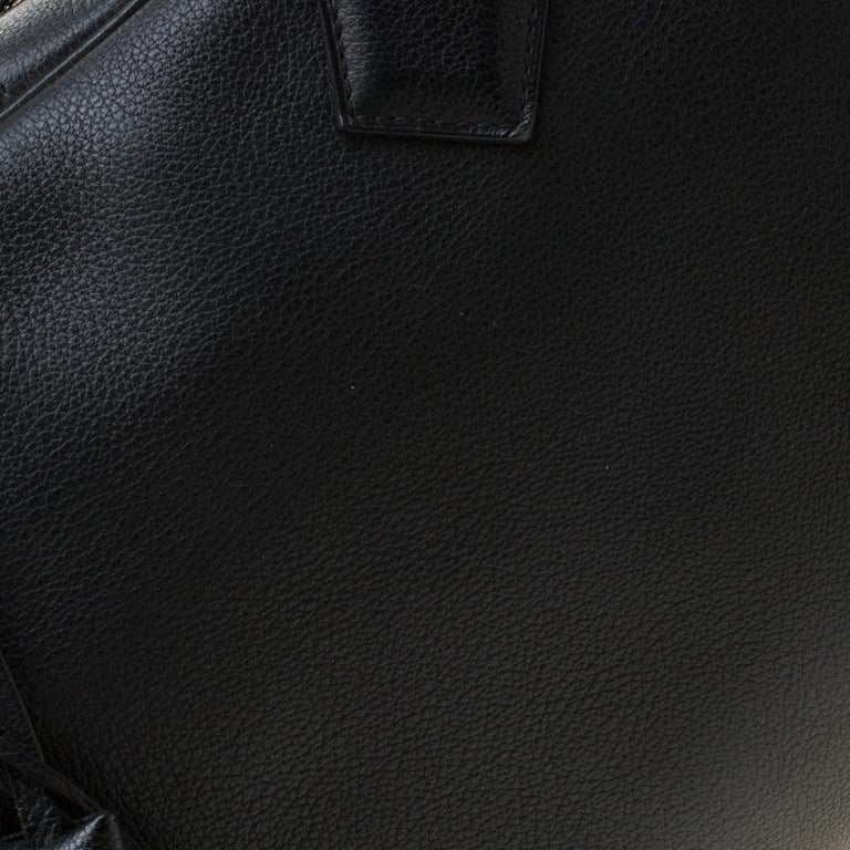 Hermes Black Leather Victoria II Fourre Tout 35 Bag For Sale 7