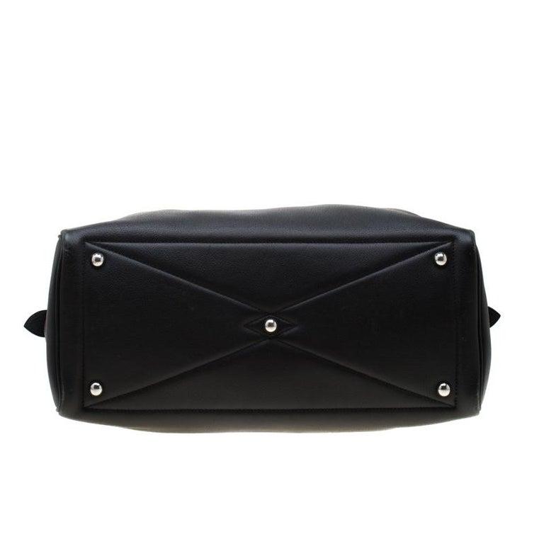 Hermes Black Leather Victoria II Fourre Tout 35 Bag For Sale 1