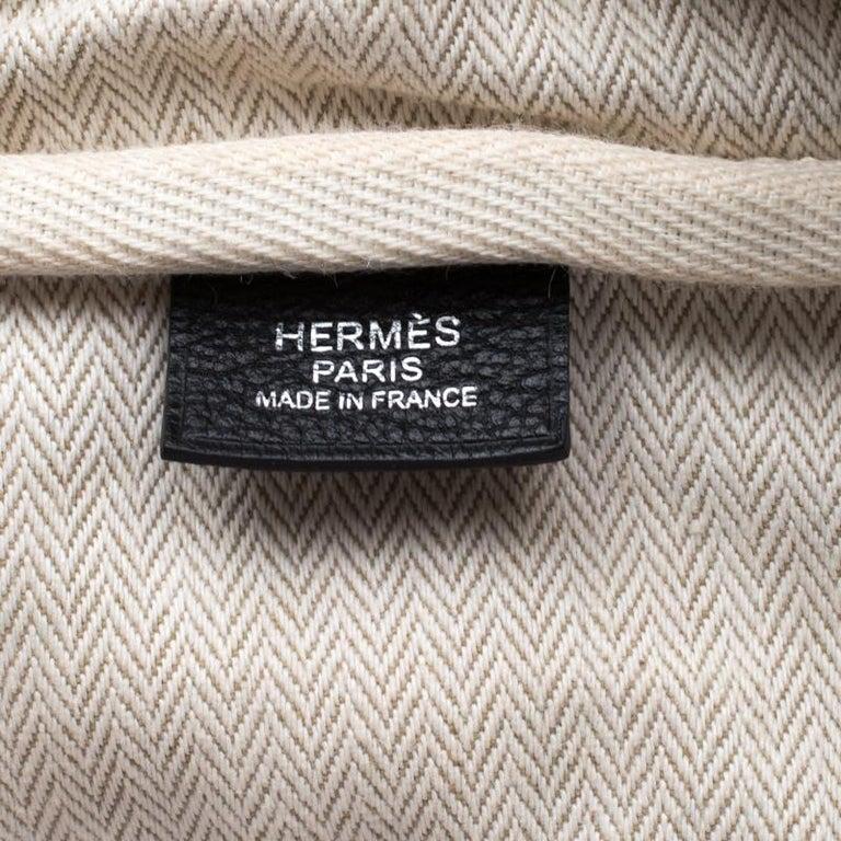 Hermes Black Leather Victoria II Fourre Tout 35 Bag For Sale 2