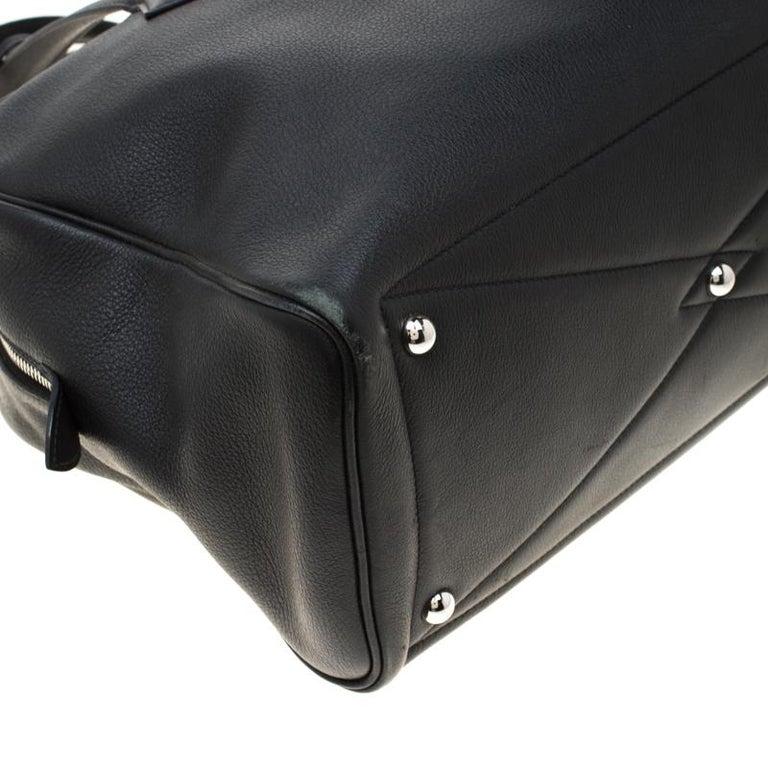 Hermes Black Leather Victoria II Fourre Tout 35 Bag For Sale 3