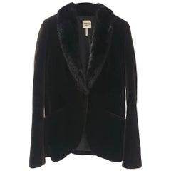 Hermes Black Mink Fur Coat Jacket