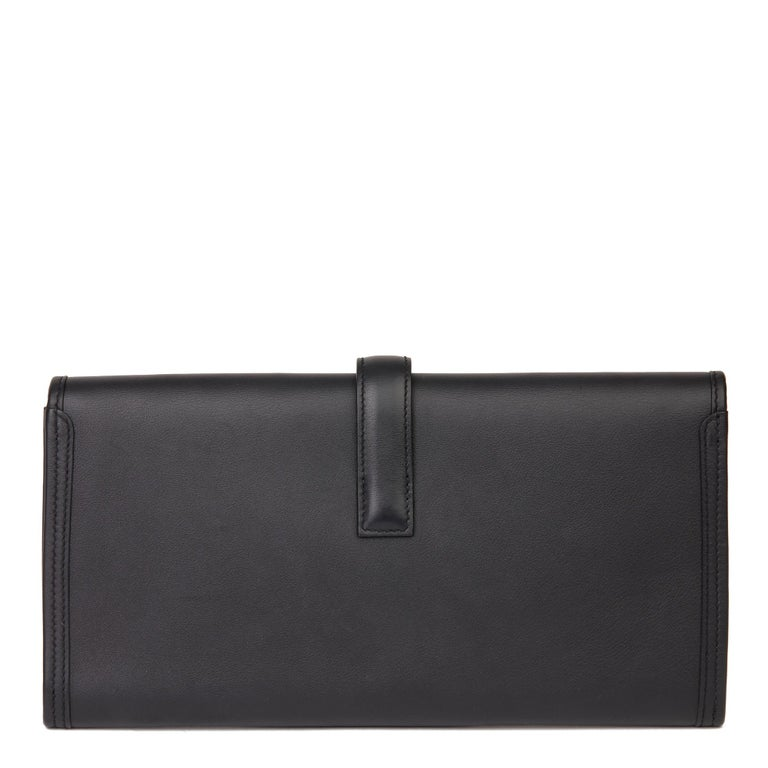 Hermès Black Quilted Swift Leather Jige Elan 29  For Sale 2