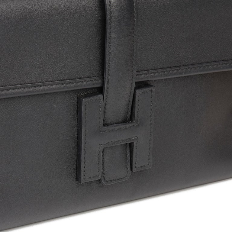 Hermès Black Quilted Swift Leather Jige Elan 29  For Sale 3