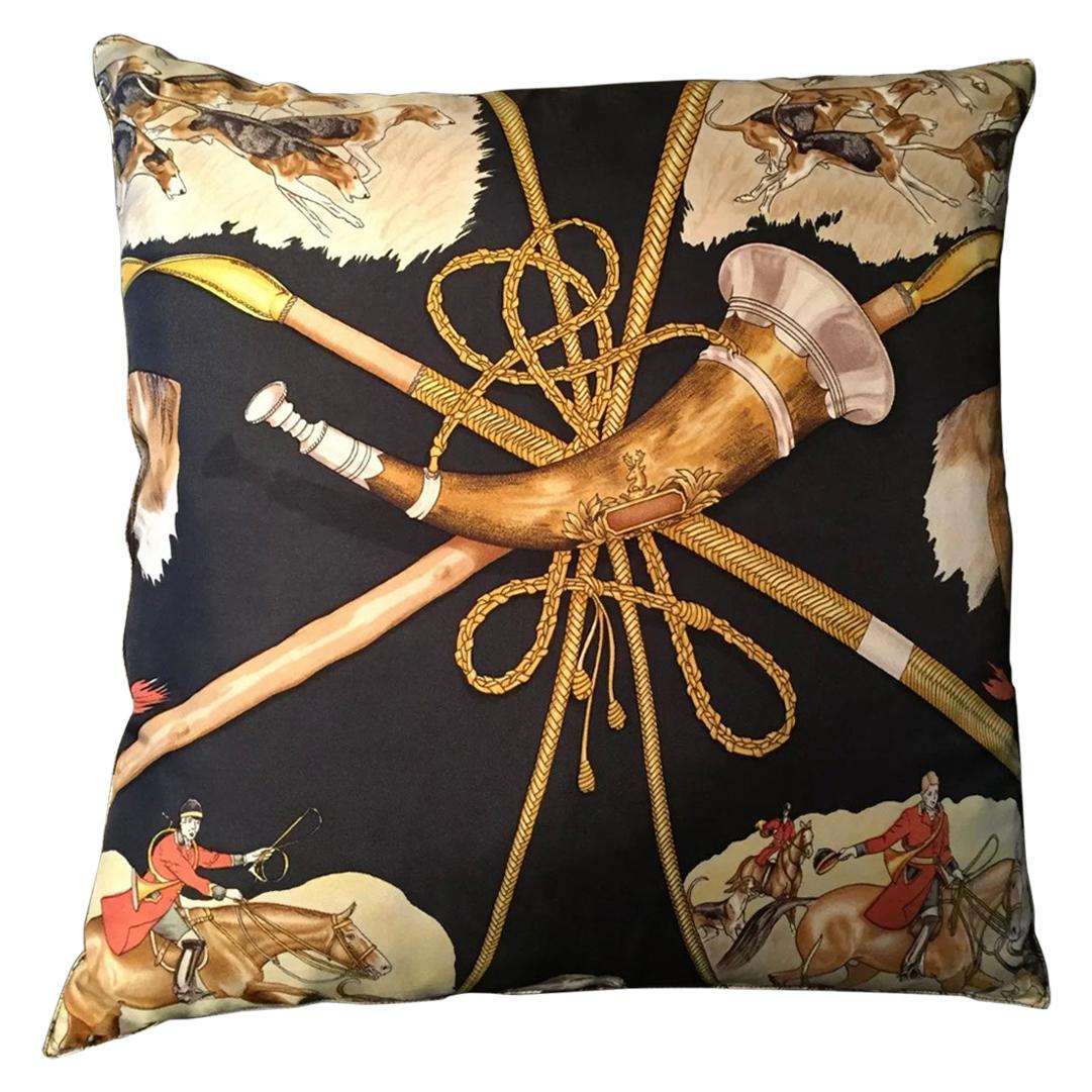 Hermes Black Red Gold Dog Home Decorative Couch Chair Throw Pillow
