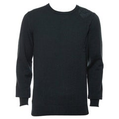 Hermes Black Spider Embroidered Cashmere Sweater L