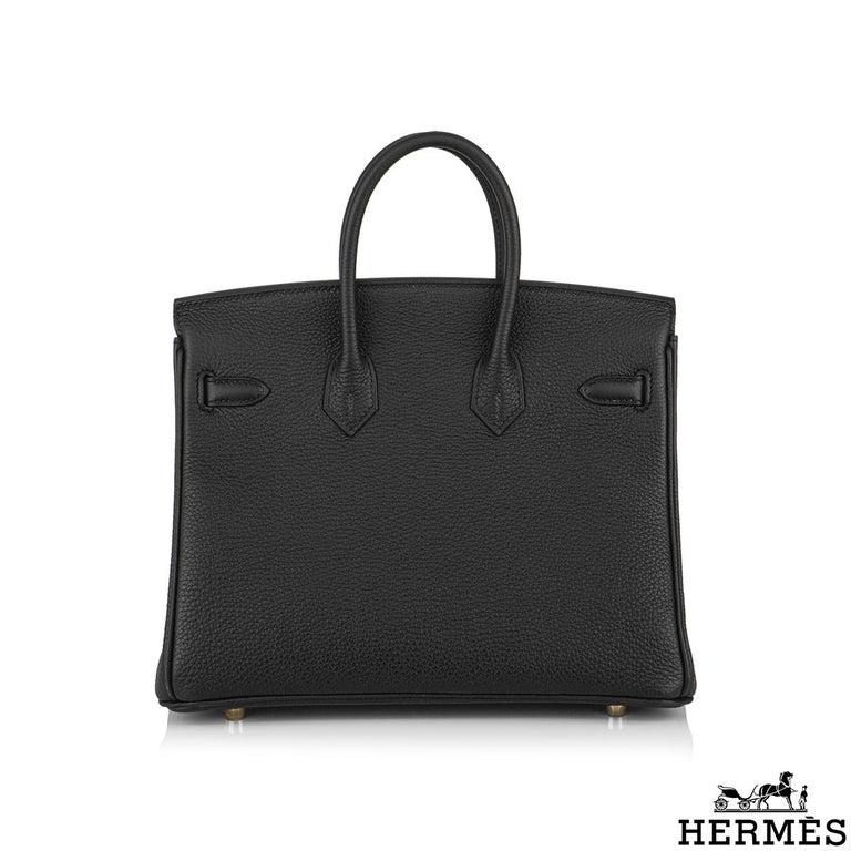 Hermès Black Togo Birkin 25cm GHW 2020 BNIB In New Condition For Sale In London, GB