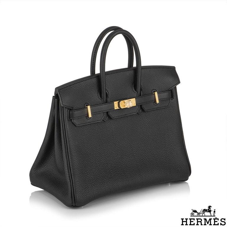 Women's Hermès Black Togo Birkin 25cm GHW 2020 BNIB For Sale
