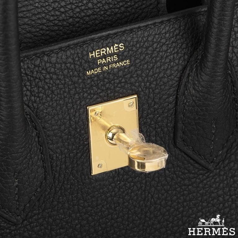 Hermès Black Togo Birkin 25cm GHW 2020 BNIB For Sale 1