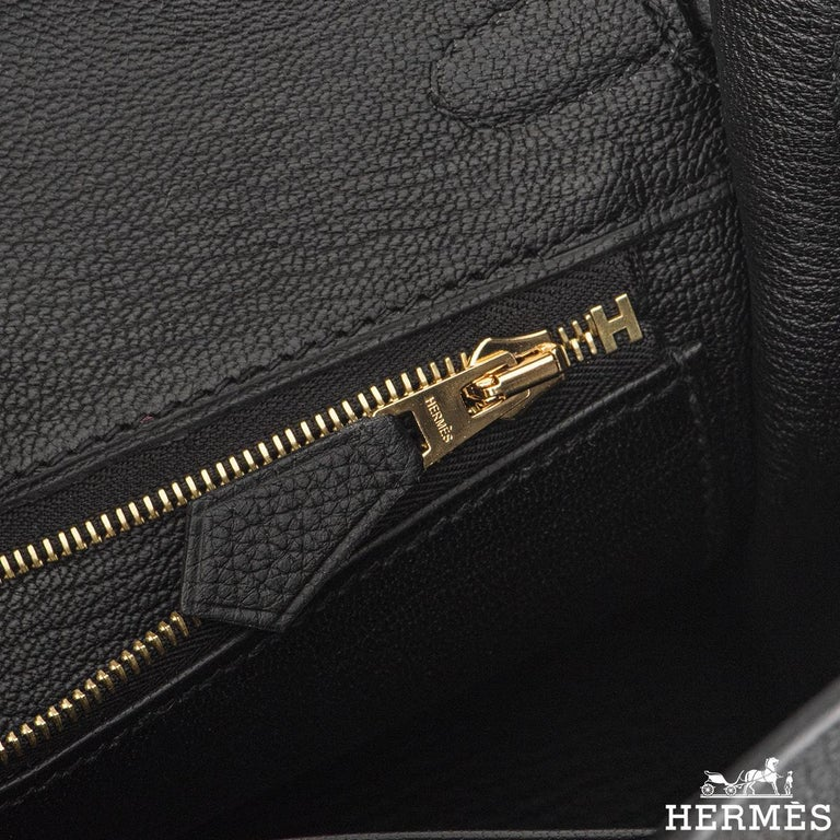 Hermès Black Togo Birkin 25cm GHW 2020 BNIB For Sale 3