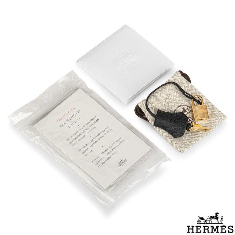 Hermès Black Togo Birkin 25cm GHW 2020 BNIB For Sale 4