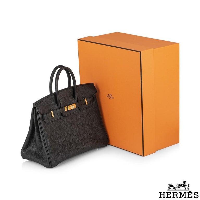 Hermès Black Togo Birkin 25cm GHW 2020 BNIB For Sale 5