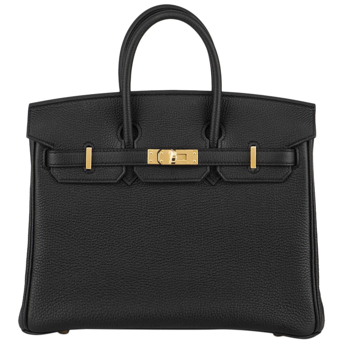 Hermès Black Togo Birkin 25cm GHW 2020 BNIB