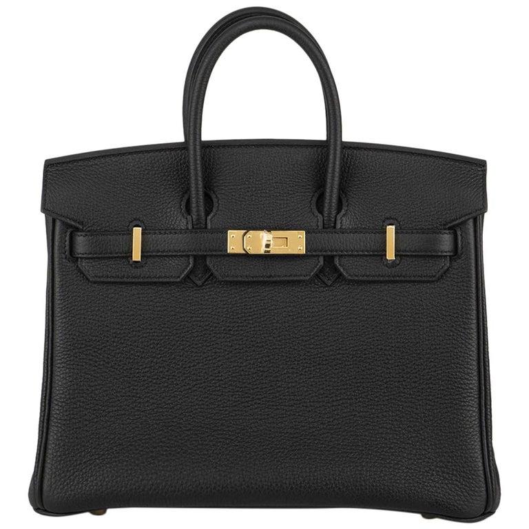 Hermès Black Togo Birkin 25cm GHW 2020 BNIB For Sale
