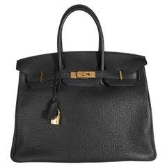 Hermès Black Togo Birkin 35 GHW