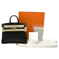 Hermes Black Togo Leather 25cm Birkin Bag