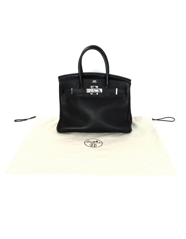 Hermes Black Togo Leather 30CM Birkin Bag w. Palladium/Silvertone Hardware 7