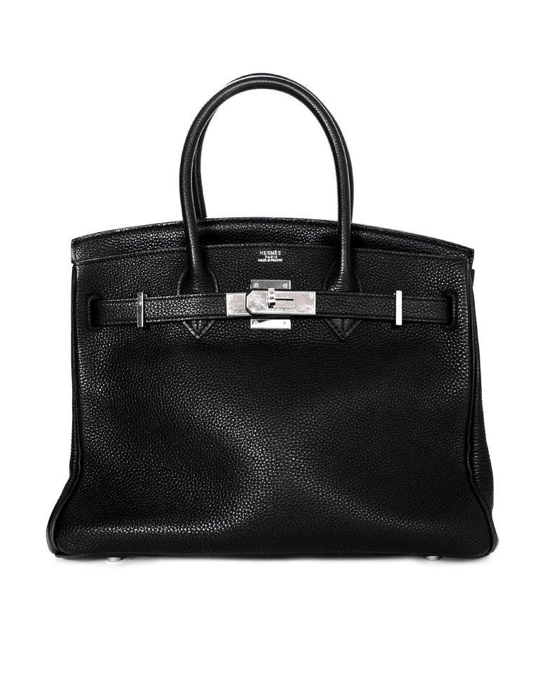 Hermes Black Togo Leather 30CM Birkin Bag w. Palladium/Silvertone Hardware In Good Condition In New York, NY