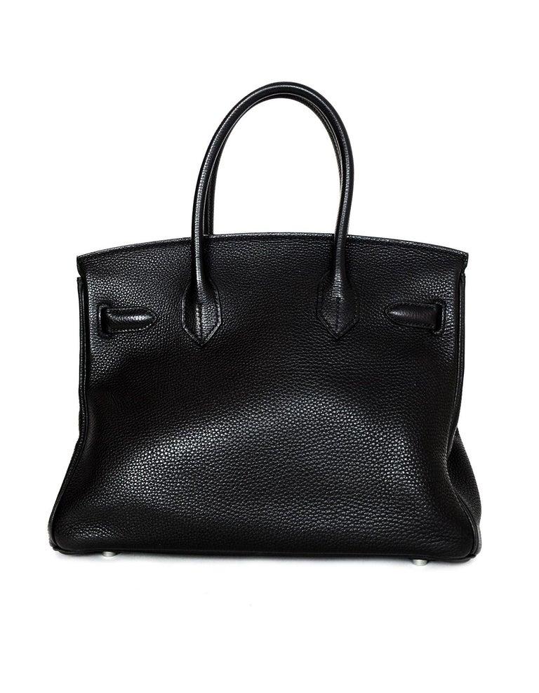 Hermes Black Togo Leather 30CM Birkin Bag w. Palladium/Silvertone Hardware 1